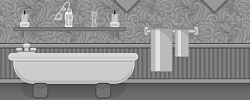 Grayscale Escape: Bathroom